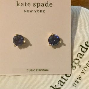 NEW KATE SPADE NEW YORK ROUND STUDS BLUE/ GOLD💙